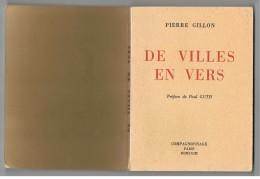 LES VILLES EN VERS. (villes De France Voir Images. ).Pierre GILLON. POEMES. - Poésie