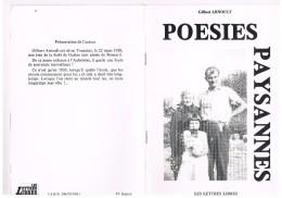 POESIES PAYSANNES. GILBERT ARNOULT. Livret De Poèmes. - Poésie