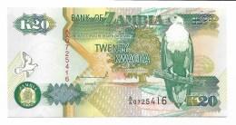BANCONOTA ZAMBIA K20 TWENTY KWACHA FDC - Sambia