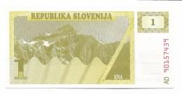 BANCONOTA SLOVENIA 1 TALLERO FDC - Slovenia
