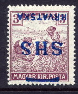 YUGOSLAVIA (SHS) 1918 Harvesters 3f  With Inverted Overprint LHM / *.  Michel 67 - 1919-1929 Kingdom Of Serbs, Croats And Slovenes
