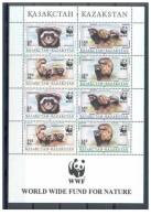 (WWF-211) W.W.F. Kazakhstan Polecat / Cat MNH Sheetlet 1997 - W.W.F.