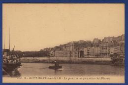 62 BOULOGNE SUR MER Le Port Et Le Quartier St Pierre ; Chalutiers - Boulogne Sur Mer