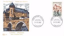 FRANCE - FDC 24-2-1962 LAVAL YT #1330 - 1960-1969