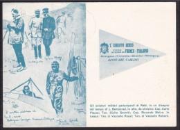 1961 Italia Italy Cartolina 50° Del RAID AEREO BOLOGNA VENEZIA RIMINI BOLOGNA Con 15L Unità D´Italia Viagg. Bologna - Militaria
