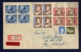 DR 1942, 4er - Block - Satzbrief 820 - 822 Per R.- Brief / Expres` St. Thomas Am Blasenstein 7.XI.42 - Deutschland