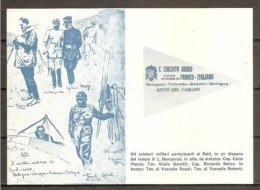 1961 Italia Italy Cartolina 50° Del RAID AEREO BOLOGNA VENEZIA RIMINI BOLOGNA Viagg. Bologna Recapito A Mano - Militaria