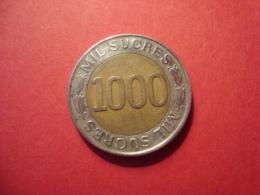 MONNAIE EQUATEUR 1000 SUCRES 1997 - Ecuador