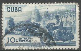 Cuba - 1958 Express Delivery 10c Used   Sc E24 - Express Delivery Stamps