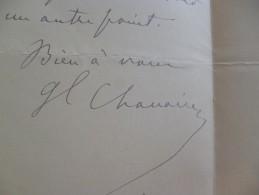 LAS 1917 Général Chamoine Lille 1897 1ère Division D'Infanterie Renseignements Militaires - Documents