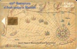 MAURITIUS 400 R - 500 U MAP SHIP 400 YEARS OF DUTCH ARRIVAL CHIP  MAU-37 READ DESCRIPTION CAREFULLY !! - Mauritius