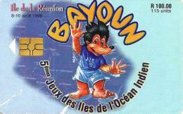 MAURITIUS 100 R - 115 U GAMES SPORT ON REUNION 1998 CHIP  MAU-34 READ DESCRIPTION CAREFULLY !! - Mauritius