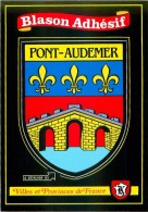 27.PONT AUDEMER.n°67.Blason Adhésif - Pont Audemer