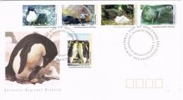 BR 685 AUSTRALIAN ANTARCTIC TERRITORY  YVERT NR 90/94 ZIE SCANS - Pingouins & Manchots