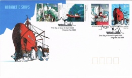 BR 689 AUSTRALIAN ANTARCTIC TERRITORY  YVERT NR 153/156 ZIE SCAN - Navires & Brise-glace