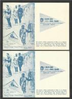 1961 Italia Italy 2 Cartoline 50° Del RAID AEREO BOLOGNA VENEZIA RIMINI BOLOGNA Viaggiata Bologna 1 Da Recapitare A Mano - Militaria