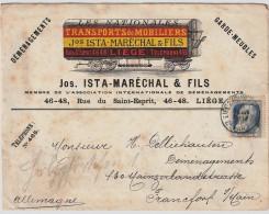 "1907, 50 C. "" Liege "" Reclame A Couleurs!  , #5769 - 1905 Breiter Bart"
