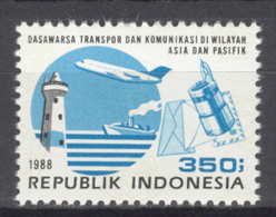 INDONESIA  1988 ZBL 1350 AIRPLANE MNH ** NEUF VERY FINE - Indonesia