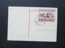 Saarland 1950 IBASA Maximumkarte / Sonderstempel / FDC Nr. 291 Katalogwert 350€ - 1947-56 Allierte Besetzung