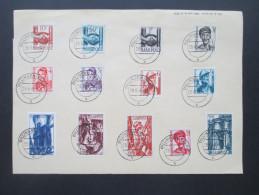 Saarland 1948 Nr. 239 - 251 Sonderbeleg / Sonderblatt. GM De Sarrelouis 24896 1000 8. 47 SDR - 1947-56 Allierte Besetzung