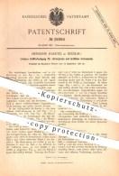 Original Patent - H. Haertel , Breslau 1886 , Griffbefestigung Für Chirurgische , ärztliche Instrumente , Medizin , Arzt - Historische Dokumente