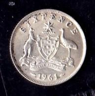 Australia 1961 Sixpence - Moneda Pre-decimale (1910-1965)