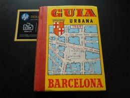 Guia Urbana Barcelona España 1969 - Old Paper