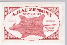 Buvard A BAUZEMONT Tannerie Nogent Le Rotrou Croupons Lisses Courroies Cuirs Pays Tannage Au Chêne - Blotters
