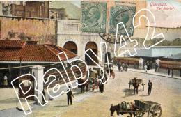 GIBRALTAR - THE MARKET - Anno 1912 - - Gibilterra