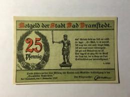 Allemagne Notgeld Bramstdedt 25 Pfennig 1921 NEUF - [ 3] 1918-1933 : République De Weimar