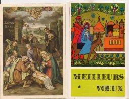 Ldiv343 - Lot De Deux Cartes - Joyeux Noël Et Meilleurs Voeux - Unclassified
