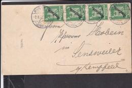 Deutsches Reich Dienstmarken MEF Stempel Rhaunen 1927 - Covers