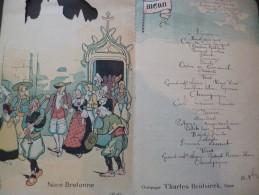 Menu Illustré Par Pierlis Le Château De Josselin  Ecrit 1924 - Menus