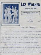 CIRQUE - LES WOLKER - Trapèzes Volants - Autographes