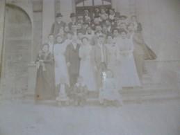 Photo Originale 19ème Mariage à Uzès Famille Teissonnier Au Dos Format 12.5 Sur 9.5 Sur Carton - Geïdentificeerde Personen