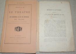 NOTICE SUR LE THEATRE ET LES ANCIENNES SALLES DE SPECTACLES DU MANS / L. HUBLIN - 1801-1900