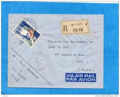MARCOPHILIE-TOE -lettre  REC SP 70667- Cad-Poste Aux Armées   1955- Stamp  50FRS N°973-pour Françe - Marcophilie (Lettres)