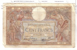 BILLET 100 FRANCS BON ETAT GENERAL 14/04/1938 - 100 F 1908-1939 ''Luc Olivier Merson''