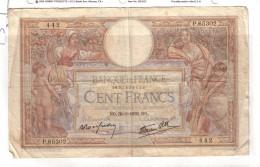 BILLET 100 FRANCS BON ETAT GENERAL 30/03/1939 - 100 F 1908-1939 ''Luc Olivier Merson''