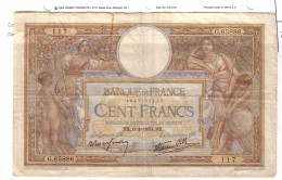 BILLET 100 FRANCS BON ETAT GENERAL 06/04/1939 - 1871-1952 Antiguos Francos Circulantes En El XX Siglo