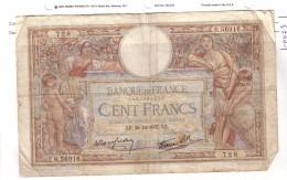 BILLET 100 FRANCS BON ETAT GENERAL 30/12/1937 - 1871-1952 Anciens Francs Circulés Au XXème