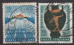 1064 Italia 1963 Giochi Del Mediterraneo - 4th Mediterranean Games, Naples - Viaggiato Used - Full Set - Francobolli