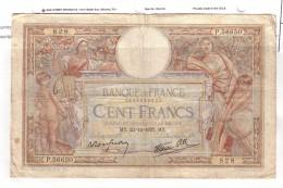 BILLET 100 FRANCS BON ETAT GENERAL 23/12/1937 - 1871-1952 Antiguos Francos Circulantes En El XX Siglo