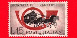 Nuovo - MNH - ITALIA - 1960 - 2ª Giornata Del Francobollo - 15 L. • Corno Di Posta E Diligenza - 1946-60: Nuevos
