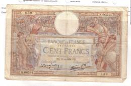 BILLET 100 FRANCS BON ETAT GENERAL 11/08/1938 - 100 F 1908-1939 ''Luc Olivier Merson''