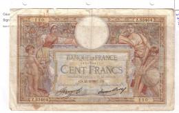 BILLET 100 FRANCS BON ETAT GENERAL 25/03/1937 - 100 F 1908-1939 ''Luc Olivier Merson''