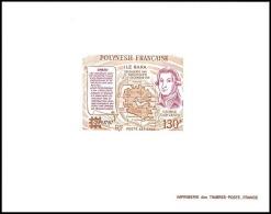 1783 Epreuve De Luxe (deluxe Proof) Polynésie (polysésia) PA N° 197 Capex, Carte, Navigateur Vancouver - Imperforates, Proofs & Errors