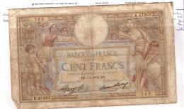 BILLET 100 FRANCS BON ETAT GENERAL 07/02/1935 - 100 F 1908-1939 ''Luc Olivier Merson''