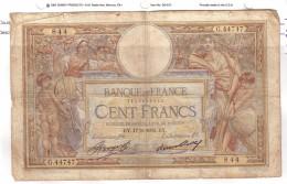 BILLET 100 FRANCS BON ETAT GENERAL 17/05/1934 - 1871-1952 Anciens Francs Circulés Au XXème