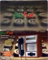 Telefonkarte Bulgarien - BulFon - Werbung - Telefon - 100 Units - Bulgarien